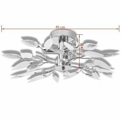 vidaXL Lámpara de Techo Original E14 con Forma de Hojas Blanco y Transparente 6