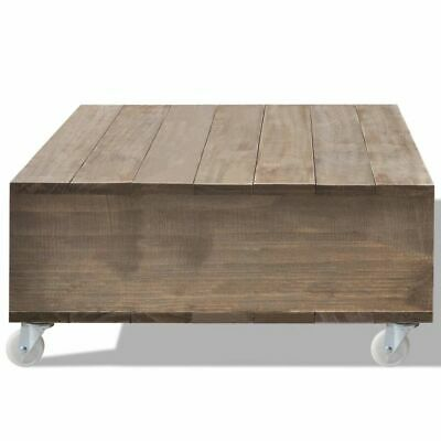 Tavolini Da Salotto Con Ruote.Vidaxl Tavolino Da Salotto Per Caffe Marrone In Legno Massello Con