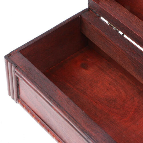 Wine Storage Box Vintage Display Decor Wood Wine Box Storage with Metal Lock 5