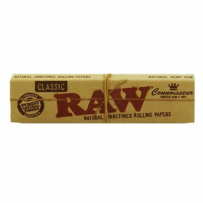 RAW Classic Connoisseur Kingsize Slim Papers & Tips - Smoking Tobacco Rolling 2