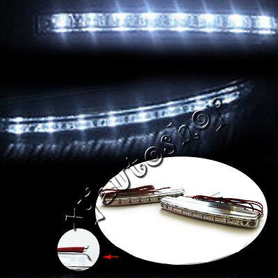 2pcs Super White 8 LED Universal Car DRL Daytime Running Head Light Lamp DC 12V 5
