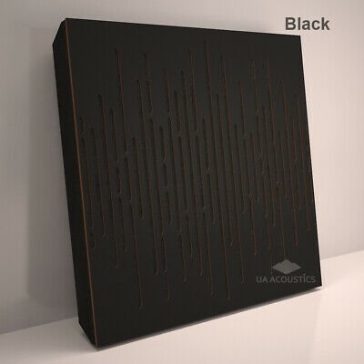 """2pcs 50*50*3cm Sound Absorption-Diffuse Acoustic Panel """"Wave"""", (laminated wood) 3"""