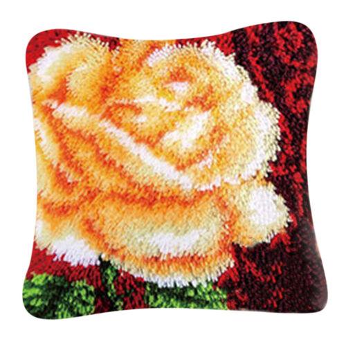 Knüpfkissen 2er//Set Knüpfset Kissen Blumen Schmtterling Motiv für Erwachsene