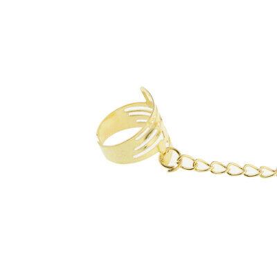 Bauchtanz Armband mit Fingerring indischen Tanz Modeschmuck Gold