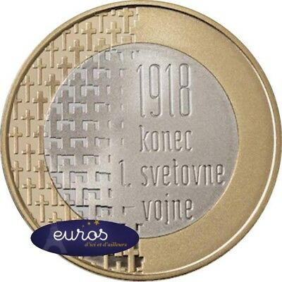 Pièce 3 euros SLOVENIE 2018 - 100ème anniversaire de la fin de la Guerre 14 - 18 3
