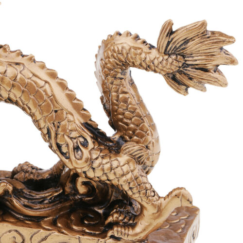 1 Piece Chinese Feng Shui Dragon Bronze Figurine Statue Luck & Success Gifts 9