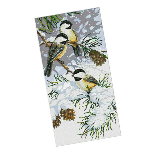 Kreuzstick Set Stickerei DIY Handarbeit Stickpackung Kit von Vögel für Zuhause