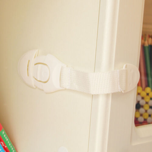 Wardrobe Fridge Freezer Door Lock Latch Catch for Toddler Kids Safety 20cm-e 2