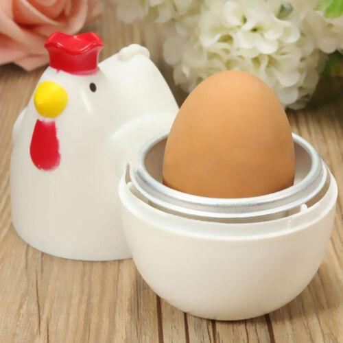 Huhn Eierbecher Eierkocher für 4 Eier Kocher Kitchen Tool Microwellen-Eikocher