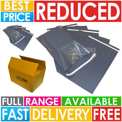 Strong Poly Mailing Postage Postal Bags Quality Self Seal Grey Plastic Mailers 2