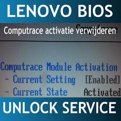 REMOVE LENOVO BIOS supervisor password / disable Computrace all model 4th -  9th