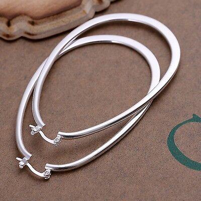 925 Sterling Silver Hoop Pierced Earrings L1 6