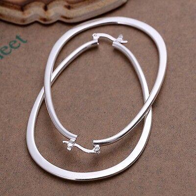 925 Sterling Silver Hoop Pierced Earrings L1 7
