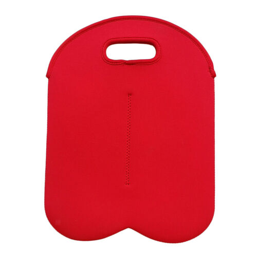Red Wine Two Bottle Neoprene Carrier Cooler Tote Bag Insulated Gift Bag 6