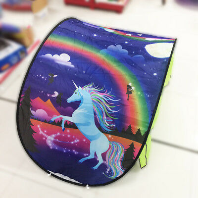 Dream Tents Kid Unicorn Space Foldable Tent Pop up Indoor Bed House +Tents Light 2