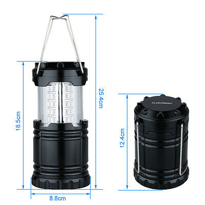 2p x 30 LED Camping Lantern Portable Collapsible Light Outdoor Hiking Work Lamp 4
