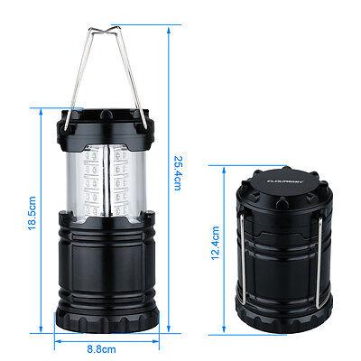 2pcs Portable 30 LED Outdoor Camping Lantern Bivouac Hiking Fishing Light Lamp 9