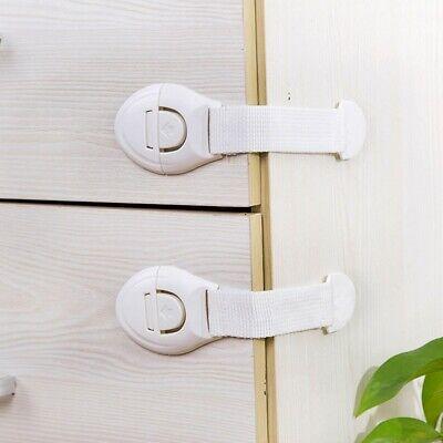 Baby Kid Safety Safe Lock Fridge Toilet Drawer Cabinet Cupboard Door 3/5/8Pcs 3