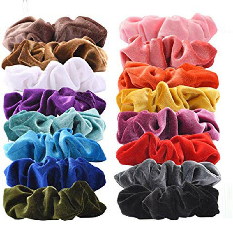 40Pcs Hair Scrunchies Velvet Elastic Hair Bands Scrunchy Hair Band 9 15 20pcs Ne 6