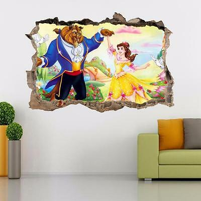 Beauty And The Beast Movie Disney Smashed Wall Decal Wall Sticker Art Mural J37