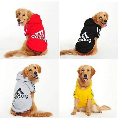 Hiver Casual Adidog Pet Dog Vêtements Manteau À Capuche Chaud Veste XS-9XL