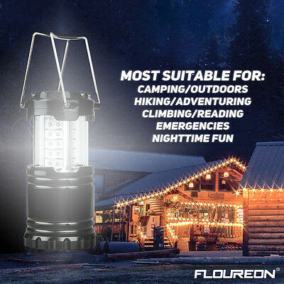 2p x 30 LED Camping Lantern Portable Collapsible Light Outdoor Hiking Work Lamp 8