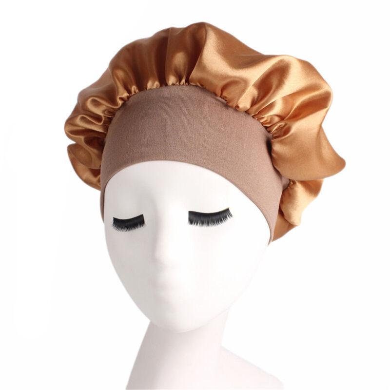 Long Hair Care Women Fashion Satin Bonnet Cap Night Sleep Hat Silk Cap Head Wrap 3