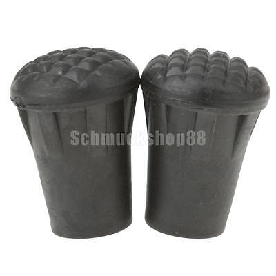 4x Walking Aspahltpads Ersatzfüße Spazierstöcke Trekkingstöcke Gummipuffer