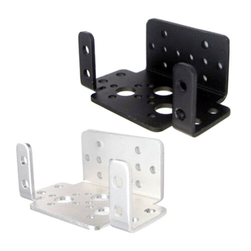 2x Multifunction Servo Bracket,PTZ Robotic Manipulator DIY Robot Mount Black 7