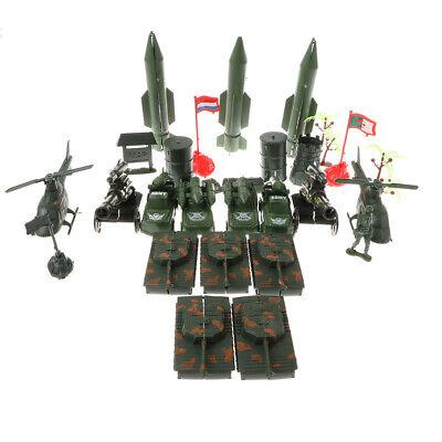 52pcs Militärbasis Set 4cm Soldaten /& Assorted Accs Panzer Kampfflugzeug