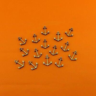 Anker Mini 10 Stück 5cm aus Holz Maritim Meer Tischdeko Kartenbasteln