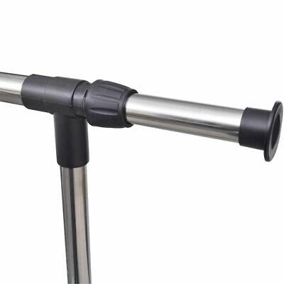 Perchero Ajustable Portátil para Ropa de 4 Ruedas 1 Barra Negro Burro108cm-170cm 6