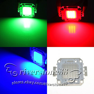 10W 20W 30W 50W 100W RGB SMD Super Bright High Power LED Chips Flood Light Bulbs