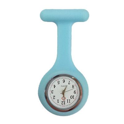 Silicone Nurse Watch Brooch Tunic Fob  Nursing Clip Pendant Pocket  Battery 9