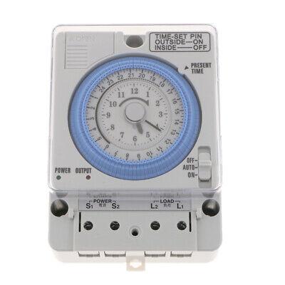 24H Chronometrie Timer Mechanischer Schalter Analoge Zeitschaltuhr 100-240V 8