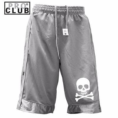 New Men's Proclub Printed Skull Funny Heavy Weight Basketball Mesh Shorts Pants 2