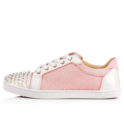 reputable site 9a38b bfa17 CHRISTIAN LOUBOUTIN GONDOLITA Spiked Studded Mesh Low Top Sneakers Shoes  $945