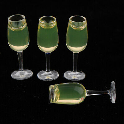 4Pcs 1:12 dollhouse miniature toy accessories juice cup champagne cup DX55