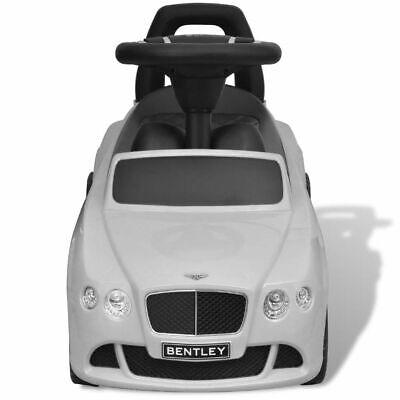 vidaXL Coche Correpasillos para Niños Bentley Blanco Auto Infantil de Juguete 2