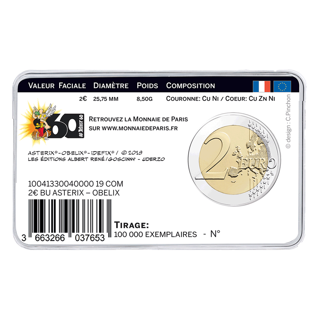 Frankreich - 3 x 2 Euro 2019 Asterix - Obelix Idefix - Satz 7