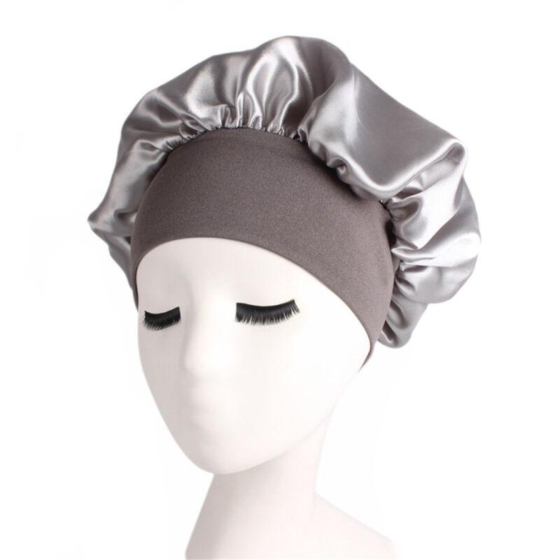 Long Hair Care Women Fashion Satin Bonnet Cap Night Sleep Hat Silk Cap Head Wrap 6