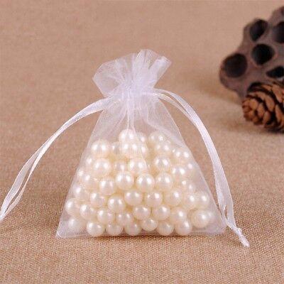 20-100Pcs Small White Organza Bags Wedding Favour Pouches Gift Candy Bag 10X15cm 2