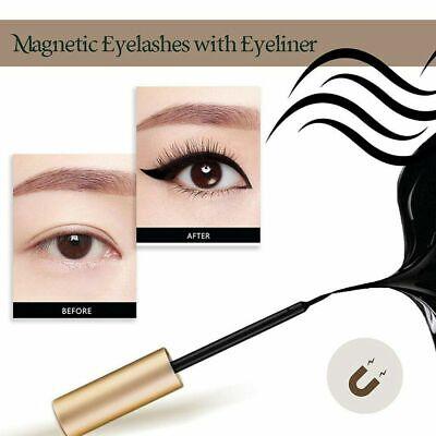 Magnetic Eyeliner Liquid & Lashes Kit - Set of 3 Mink Eyelashes Natural Long UK 6