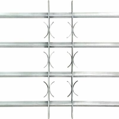 vidaXL Adjustable Security Grille for Windows with 4 Crossbars 500-650mm Safe 3