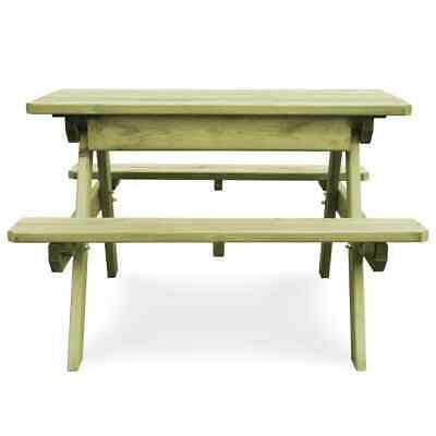 vidaXL Table Pique-nique Banc Bois de Pin Imprégné FSC Jardin Patio Terrasse 3