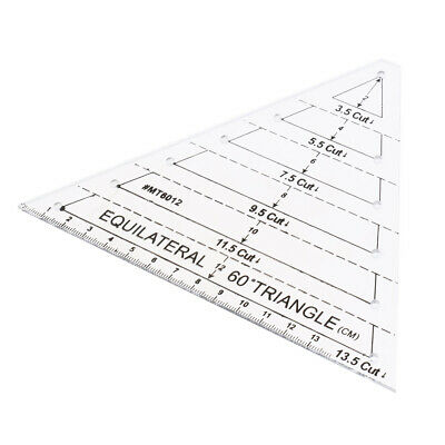 Creative 13.5 Cut 60 Degree Equilateral Triangle Ruler for Sewing Quilting Crafts