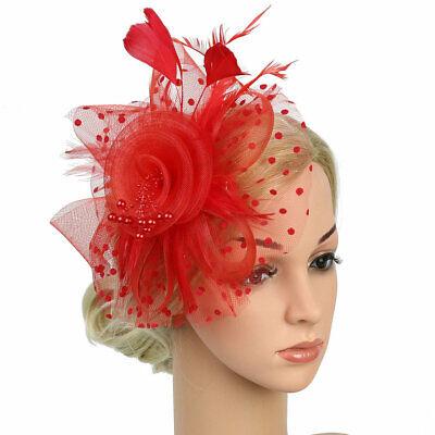 Ladies' Day Fascinator Hat Cocktail Tea Party Headband Women Wedding Hair Clip 4