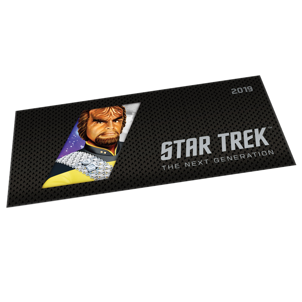 Niue - 1 Dollar 2019 - Star Trek™ - Worf™ (2.) - Münznote - 5 gr Silber ST 4