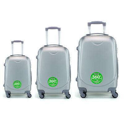 Juego de 3 maletas rigidas lisas de 4 ruedas giratoria 360 maleta equipaje viaje 4