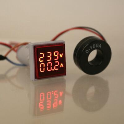 AC 60-500V/&0-100A Voltmètre Ampèremètre LED Double Numérique V Amp Mètre Jauge